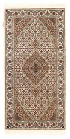 Tabriz Royal Koberec 72X142 Orientální Ručně Tkaný Tmavě Hnědá/Béžová ( Indie)