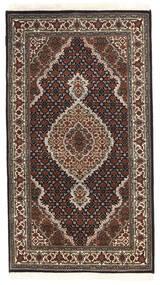 Tabriz Royal Koberec 91X163 Orientální Ručně Tkaný Tmavě Hnědá/Černá ( Indie)