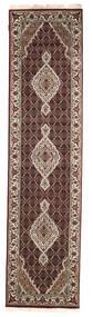 Tabriz Royal Koberec 76X307 Orientální Ručně Tkaný Běhoun Tmavě Červená/Světle Šedá ( Indie)