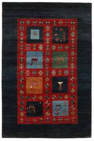 Gabbeh Loribaft Koberec 149X225 Moderní Ručně Tkaný Černá/Červenožlutá (Vlna, Indie)