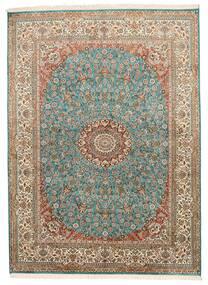 Kashmir Čistá Hedvábí Koberec 159X218 Orientální Ručně Tkaný Hnědá/Tmavošedý (Hedvábí, Indie)