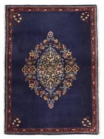 Keshan Koberec 68X96 Orientální Ručně Tkaný Tmavě Fialová/Tmavě Hnědá (Vlna, Persie/Írán)