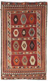 Kelim Vintage Koberec 133X232 Orientální Ruční Tkaní Tmavě Červená/Světle Hnědá/Tmavě Hnědá (Vlna, Persie/Írán)