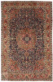 Tabriz Koberec 196X308 Orientální Ručně Tkaný Tmavě Hnědá/Tmavošedý (Vlna, Persie/Írán)