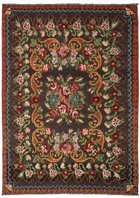 Kilim Rose Moldavia Koberec 191X282 Orientální Ruční Tkaní Černá/Tmavě Zelený (Vlna, Moldavsko)