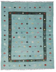 Kelim Nimbaft Koberec 158X204 Moderní Ruční Tkaní Tmavý Turquoise/Černá (Vlna, Afghánistán)