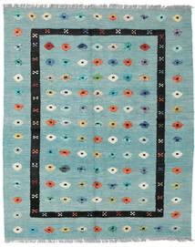 Kelim Nimbaft Koberec 157X200 Moderní Ruční Tkaní Pastelově Zelená/Tyrkysově Modré (Vlna, Afghánistán)