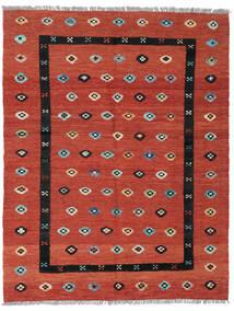 Kelim Nimbaft Koberec 157X200 Moderní Ruční Tkaní Červenožlutá/Tmavě Červená (Vlna, Afghánistán)