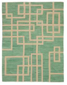 Kelim Moderní Koberec 161X207 Moderní Ruční Tkaní Tmavě Zelený/Tmavě Zelený/Světle Hnědá (Vlna, Afghánistán)