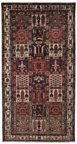 Bakhtiar Koberec 157X297 Orientální Ručně Tkaný Běhoun Černá/Tmavě Hnědá (Vlna, Persie/Írán)