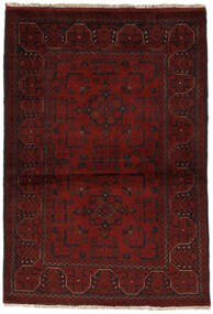 Afghán Khal Mohammadi Koberec 98X142 Orientální Ručně Tkaný Černá (Vlna, Afghánistán)