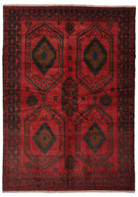 Beluch Koberec 180X252 Orientální Ručně Tkaný Černá/Tmavě Červená (Vlna, Afghánistán)