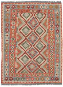Kelim Afghán Old Style Koberec 150X203 Orientální Ruční Tkaní Tmavě Hnědá/Tmavošedý (Vlna, Afghánistán)