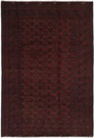 Afghán Koberec 194X295 Orientální Ručně Tkaný Černá (Vlna, Afghánistán)