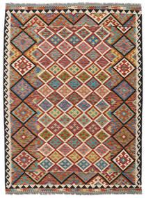 Kelim Afghán Old Style Koberec 178X240 Orientální Ruční Tkaní Tmavě Hnědá/Černá (Vlna, Afghánistán)