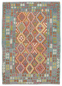 Kelim Afghán Old Style Koberec 172X240 Orientální Ruční Tkaní Tmavě Zelený/Tmavě Hnědá (Vlna, Afghánistán)